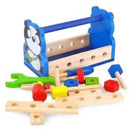 Canasta de herramientas con accesorios