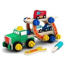 Camión con rampa y herramientas
