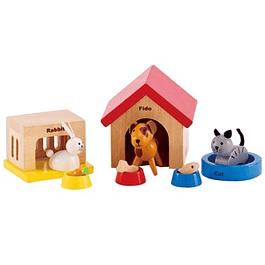 Set de mascotas de madera