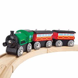 Tren de pasajeros a vapor Hape