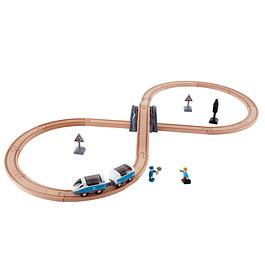 Set de tren con forma de 8 Hape