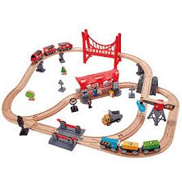 Set de tren carril ciudad Hape