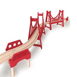Accesorios trenes, puente Hape