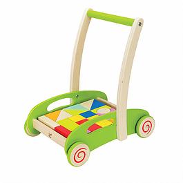 Carro de arrastre con bloques de madera Hape