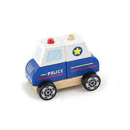 Auto encaje policia de madera