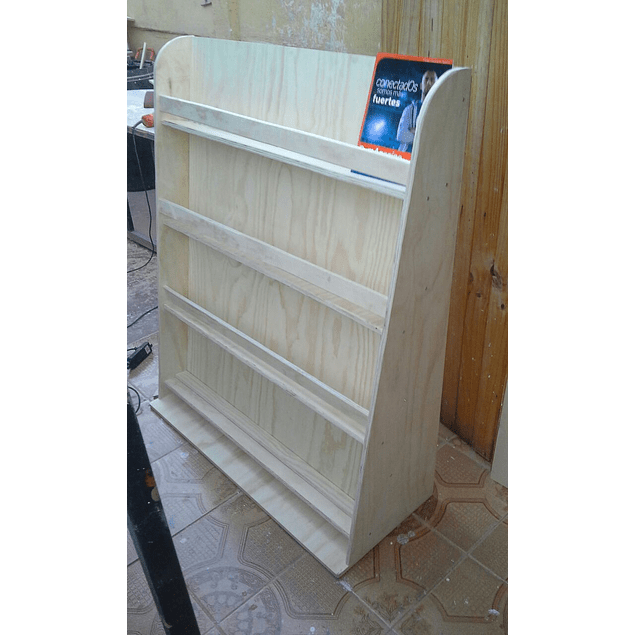 Librero de madera infantil natural barnizado 90*120 cm