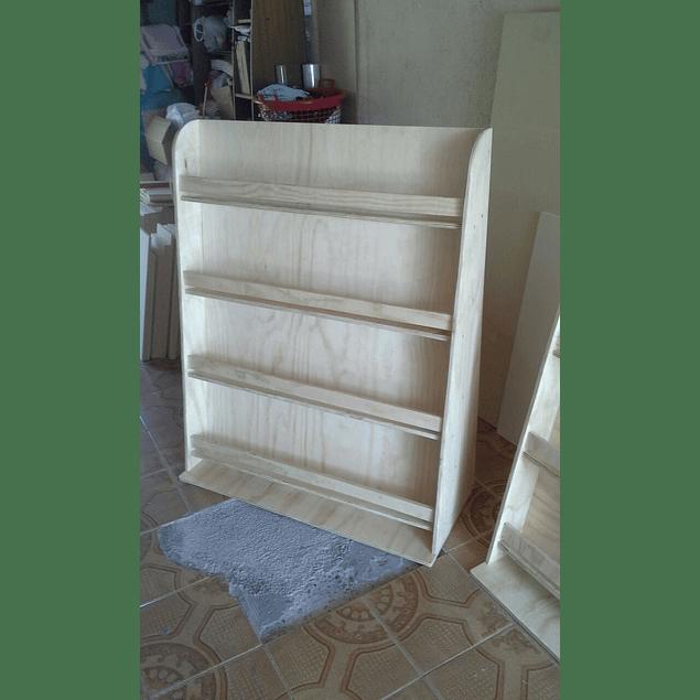 Librero de madera infantil natural barnizado 90*60 cm