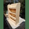 Librero de madera infantil recto 90*60 cm Natural