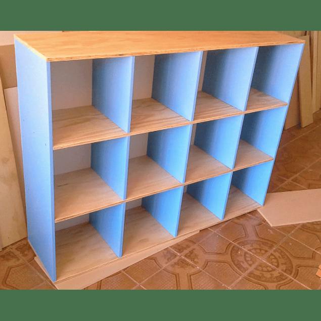 Organizador de madera, mixto 100*100*35 cm