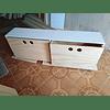 Cajonera de madera, mixta 150*40*40 cm (3 cajones)