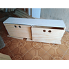 Cajonera de madera, mixta 200*40*40 cm (4 cajones)