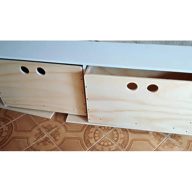 Cajonera de madera, mixta 150*40*40 cm (2 cajones)