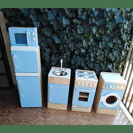 Rincón de cocina juguete de madera Natural-color