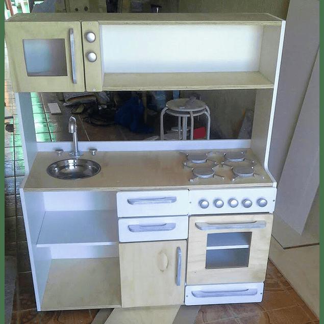 Mueble de cocina juguete, grande Natural-color