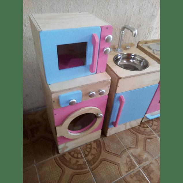 Microondas de madera juguete Natural-color