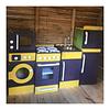 Refrigerador de madera juguete color