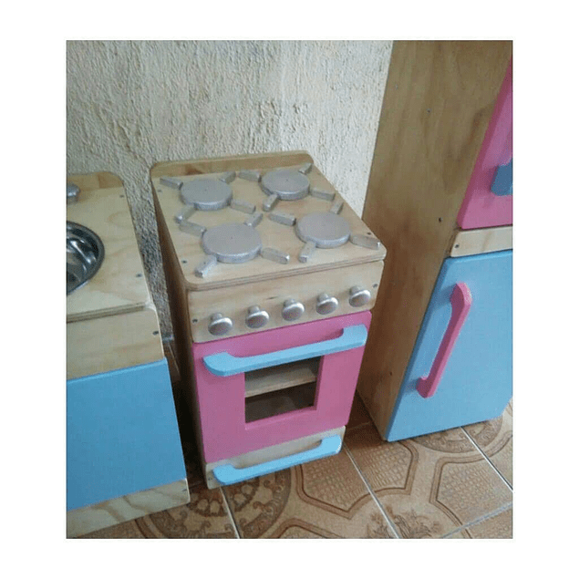 Cocina de madera juguete natural-color