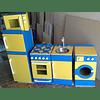 Lavadora de madera juguete Color