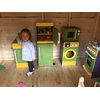 Microondas de madera juguete Color
