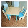 Mesa de madera con 2 sillas para niños