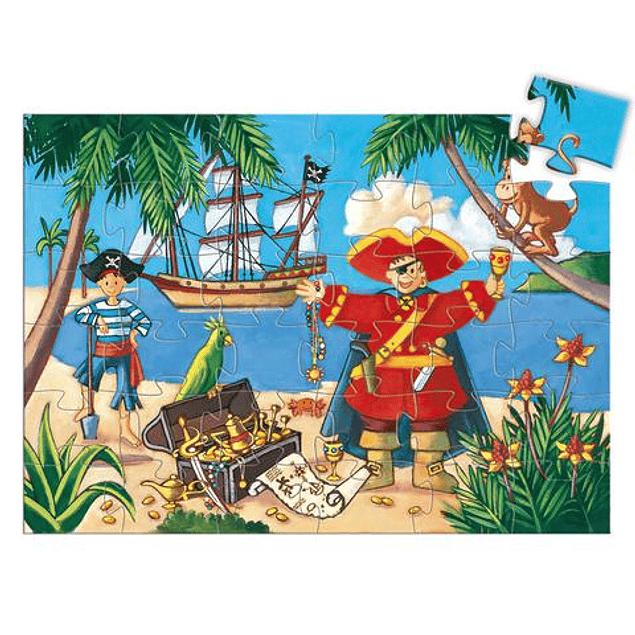 Puzzle El Pirata y su Tesoro 36 piezas