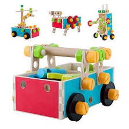 Mecano de madera con herramientas Acooltoy