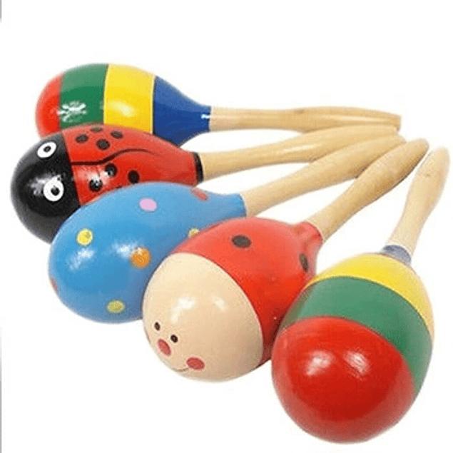 Maraca de madera para niños