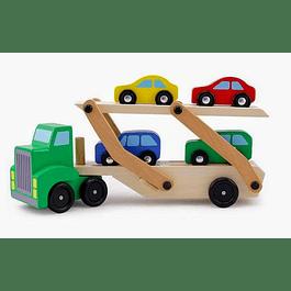 Camión con Rampa de Madera