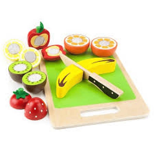 Frutas de madera con velcro
