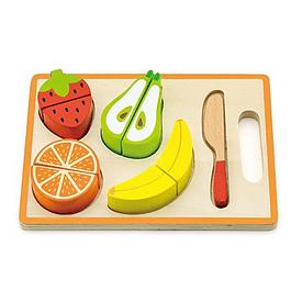 Comida de Madera con Velcro Frutas