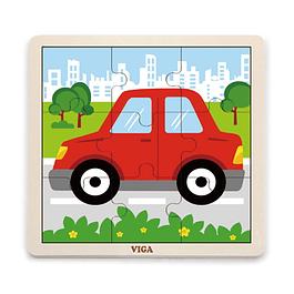 Puzzle de Madera 9 Piezas Auto