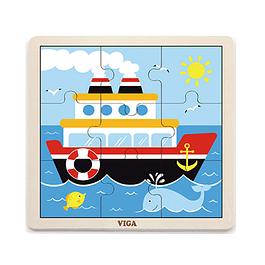 Puzzle de Madera 9 Piezas Barco