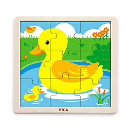 Puzzle de Madera 9 Piezas Pato