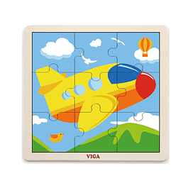 Puzzle de Madera 9 Piezas Avión