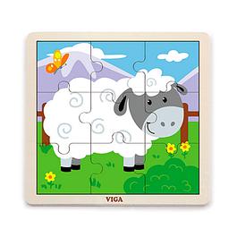 Puzzle de Madera 9 Piezas Oveja
