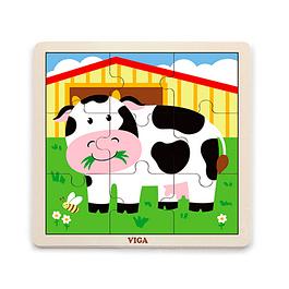 Puzzle de Madera 9 Piezas Vaca