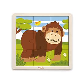Puzzle de Madera 9 Piezas Mono