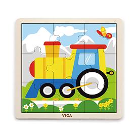 Puzzle de Madera 9 Piezas Tren