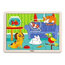 Puzzle de Madera 16 Piezas Mascotas