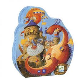 Puzzle Caballero y el Dragón 54 piezas