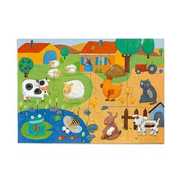 Puzzle Gigante Tactile Farm
