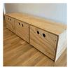 Cajonera de madera. natural 150*40*40 cm (3 cajones)