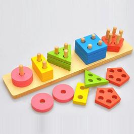 Set de encajes de madera
