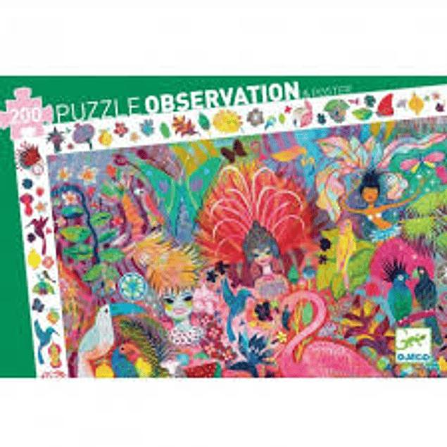 Puzzle observación - Carnaval de Rio - 200 piezas