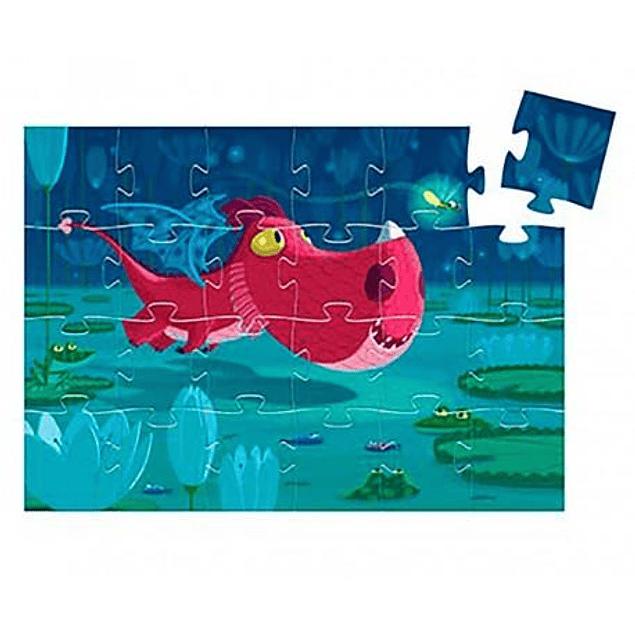 Puzzle Silueta Edmond el Dragon 24 Piezas