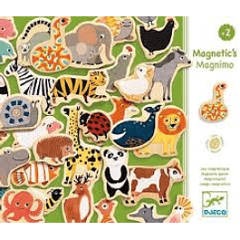 Magnéticos Madera Animales