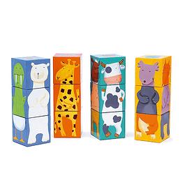 Cubos de animales 12 piezas