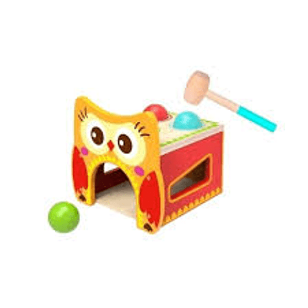 Juego de pelotas Owl pound bench
