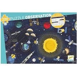 Puzzle Observación El espacio con libro