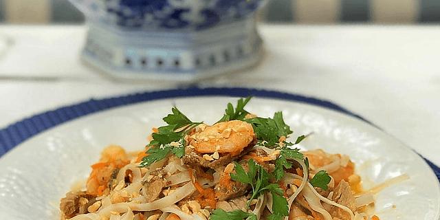 Pad Thai de Camarones